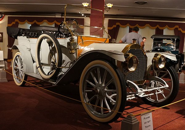 This 1911 Auburn Model N Touring car was the largest motorcar that Auburn had produced up to this time. The Model N Auburn weighed 2,700 pounds and has a 120-inch wheelbase. It was rated at 40 horsepower.