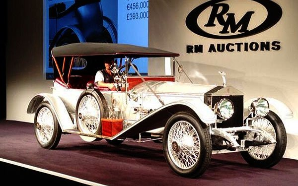Rolls-Royce motorcars are highly valued here during Concours week. This 1915 Rolls-Royce Silver Ghost sold for $600,000 at the RM Auction on Friday.