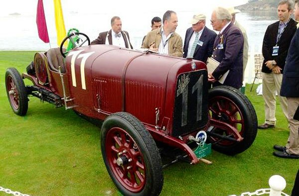 A 1921 Alfa Romeo is the oldest Alfa at the Pebble Beach Concours D'Elegance in 2013. Since it is one of the earliest it will be one of the first to be judged.