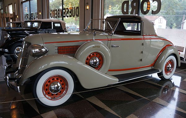 So often these special Auburn motorcars were built with coachworks-like custom features. This one has a 3-Position convertible top.