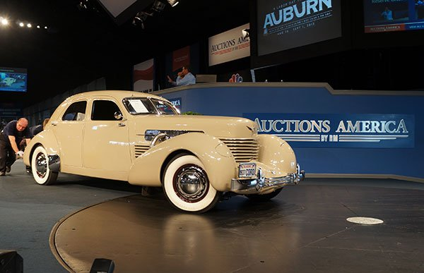 The first car we saw sold today was a 1937 Cord 812 Supercharged. It seems fitting that Auctions America sold so many Cord and Duesenberg cars today.