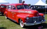 Commissioned in May of 1947 by the Milwaukee Fire Bell Club, this 1947 Cadillac Ambulance remained in service until 1979 as part of the Milwaukee Fire Department.