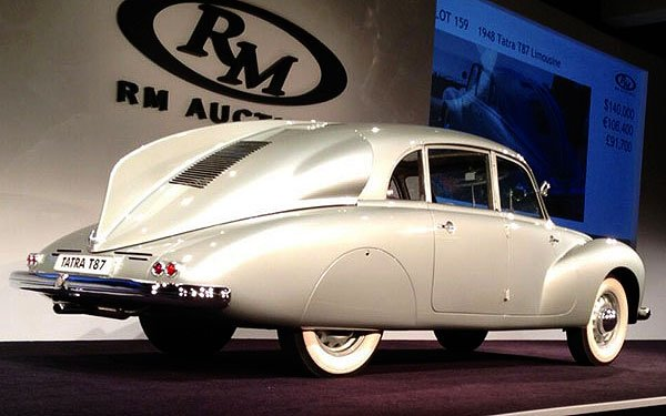 The 1948 Tatra T48 Limousine which we showed you yesterday sold for $225,000 at the RM Auction in Monterey.