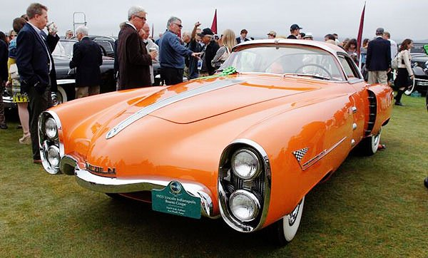 Edsel Ford once showed his 1955 Indianapolis Boano (a Lincoln concept) at the Turin Auto Show in Italy. It was present at the Pebble Beach Concours D'Elegnace 2013.