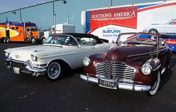As we arrived today RM's Auctions America had already SOLD a rare 1957 Cadillac Eldorado Biarritz Convertible (left) and a 1941 Buick Roadmaster Convertible.