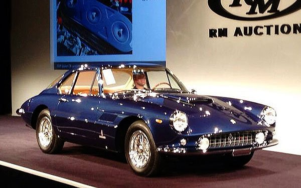 The opening bid on this 1961 Ferrari 400 Superamerica SWB Coupe was $1 million. It eventually sold for $2,500,000.