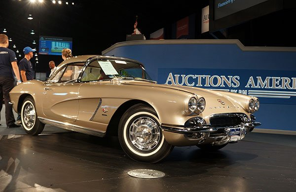 A Fawn Beige 1962 Corvette Fuelie Convertible was sold.
