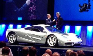 A 1997 McLaren F1 exotic sports car crossed the auction stage at the Gooding & Company Auction. The opening bid on this prestigious super car started at $5 million. The winning bid was for $7.7 million. It was one of the featured sales at the auction on Saturday.