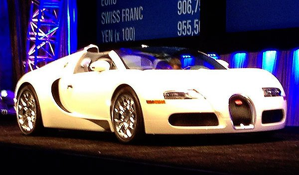 A Bugatti Veyron Grand Sport crossed the auction block on Saturday. This one sold for $1,050,000.