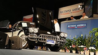 Auctions America sells a 1959 Corvette Fuelie as auction action fills the Auburn Auction Park