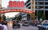 Cruising in Reno under the iconic Reno arch.
