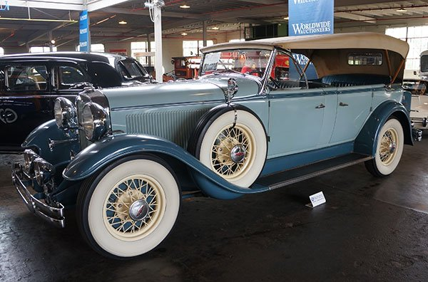 A 1931 Lincoln Model K 7-Passenger Sport Touring was also in the Worldwide sale. This touring car is truly rare. It is one of only 45 ever built and one of two known to exist today. It was formerly from the Homer Fitterling Collection.