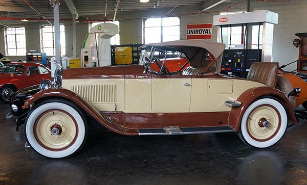 A 1926 Pacard Six Sport Roadster was also part of the sale. Notice the beautiful period wheels.