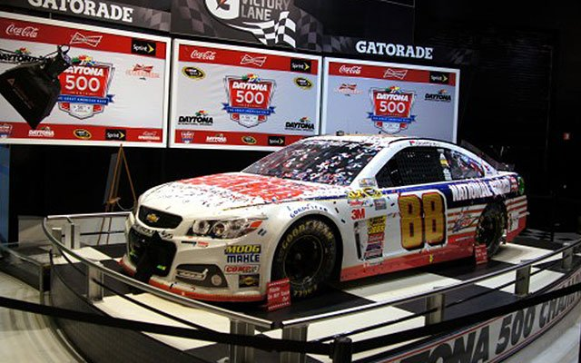 Dale Earnhardt, Jr's 2014 Chevy Monte Carlo, winning car at the 2014 Daytona 500