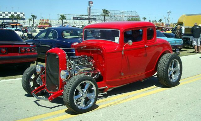 Old school Ford Deuce Coupe