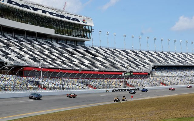 Mustangs on the track at Daytona Speedway for the Daytona Turkey Run Spring 2014