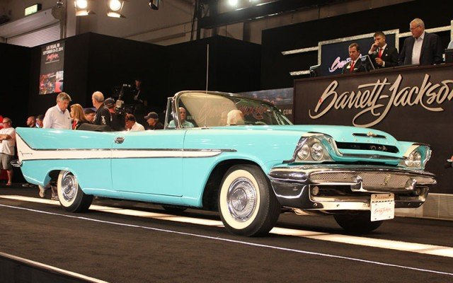 1958 Desoto Firesweep Convertible for Barrett-Jackson at 2014 Hot August Nights