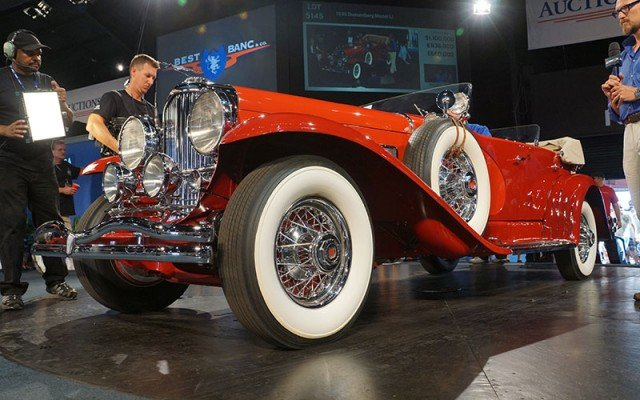 1935 Duesenberg sold at Auctions America Auction at Auburn Festival