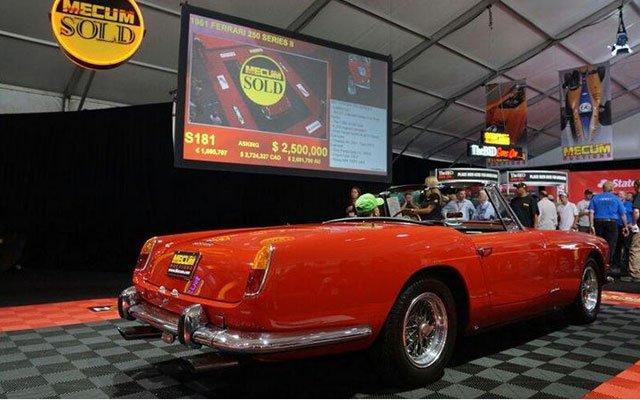 1961 Ferrari 250 Series II Cabriolet sold at 2014 Mecum Auction at Pebble Beach