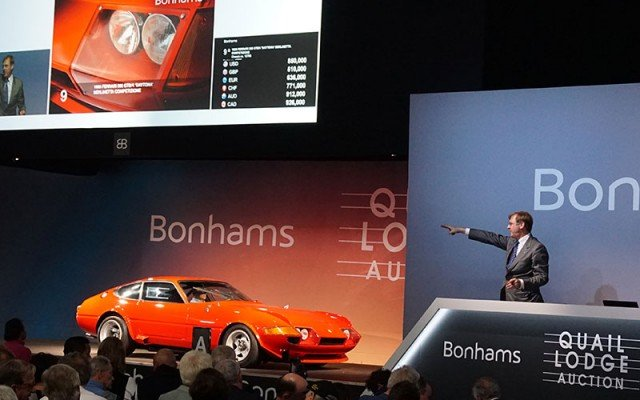 1981 Ferrari 512 Boxer sold at the 2014 Bonhams Auction at the Quail Lodge