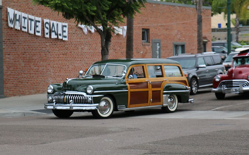 1951 Desoto Woodie Station Wagon at Wavecrest Woodie Cruise