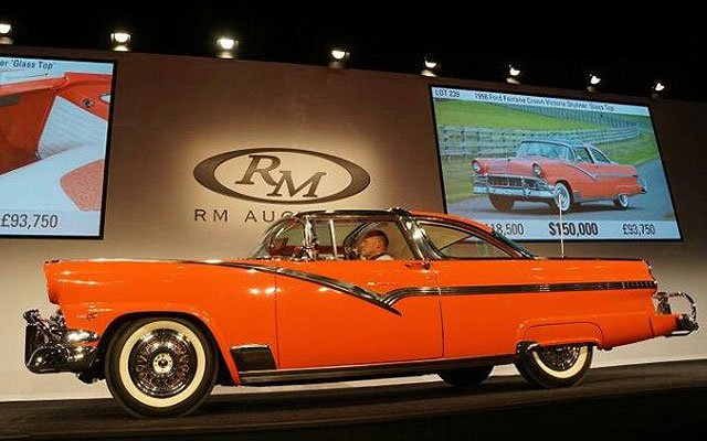 1956 Ford Fairlane Crown Victoria with the glass roof