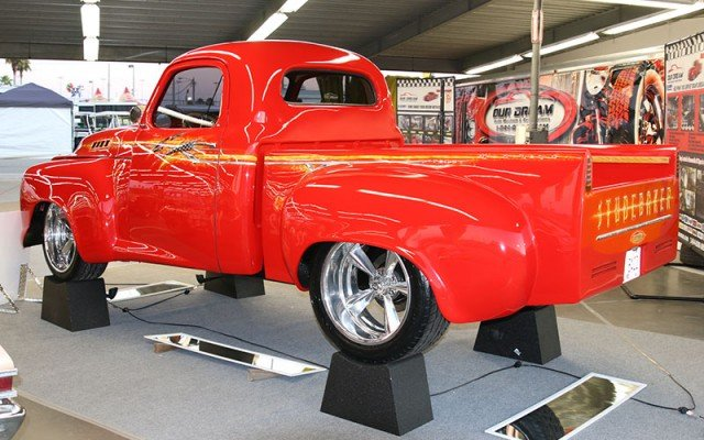 Rear view of Bobby Allison's 1950 Studebaker Pickup