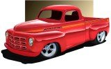 Bobby Allison's 1950 Studebaker R2 Pickup at the Daytona Turkey Run