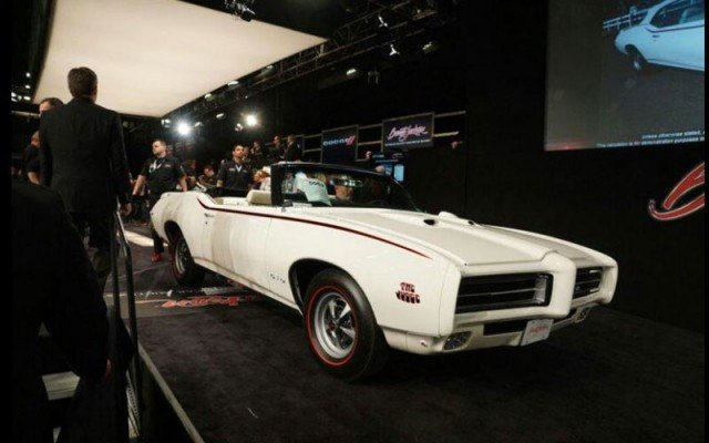 1969 Pontiac GTO Judge Convertible sold for $165,000