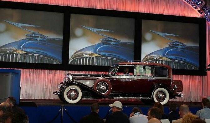 1934 Duesenberg received a high bid of $775,000 although it did not clear reserve at the Gooding & Co Auction at Amelia Island