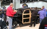 1937 Ford Woodie Wagon being judge for Ridler Award