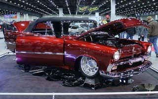 1956 Plymouth Convertible in the Great 8 competition