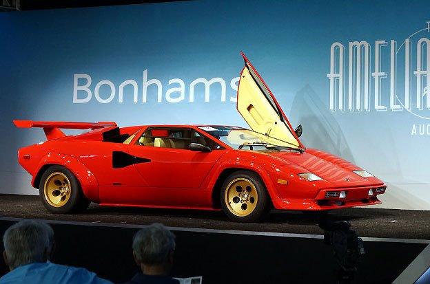 1983 Lamborghini Countach LP 500 S at Bonhams Auction at Amelia Island