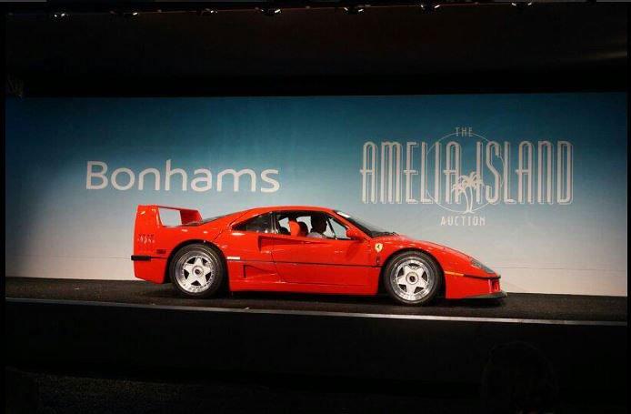 1992 Ferrari F-40 at Bonhams Auction