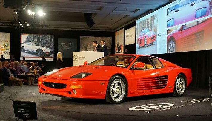 1995 Ferrari F512 M sells for $410,000 at RM/Sotheby Auction at Amelia Island.