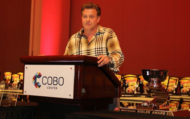 Chip Foose next to Ridler Award