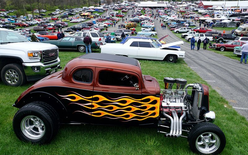Car Corral at the 2015 Spring Carlisle Car Show