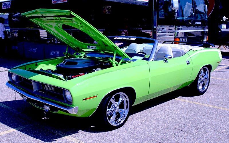 1971 Plymouth Hemi Cuda Convertible tribute on 2015 Hot Rod Power Tour