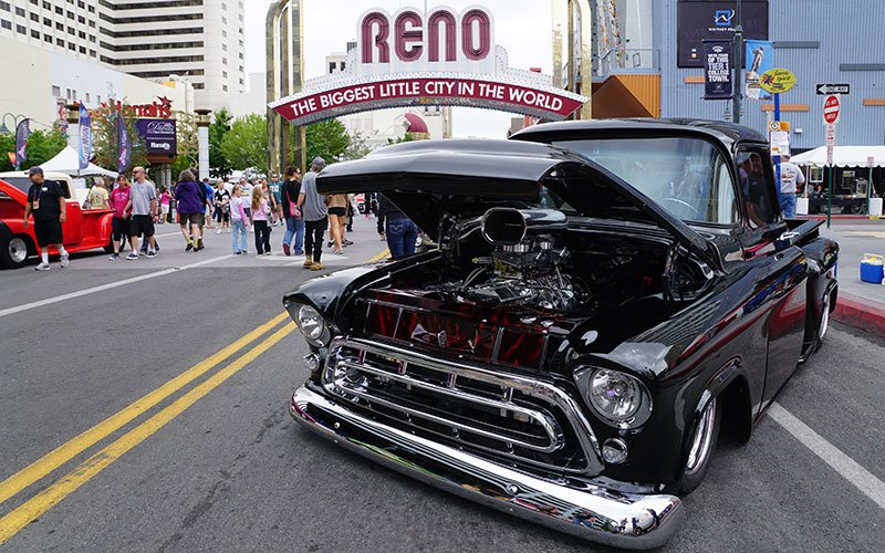 Blown Chevy under Reno Arch