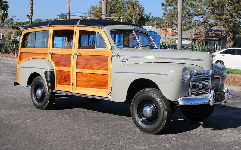 classic woodie wagons 1943 Ford 4 Door Sedan 1942 ford super deluxe marmon herrington 4x4 conversion