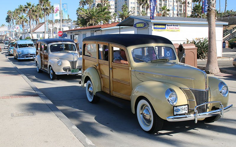 Wavecrest Woodie Show 2015 Cruise to Oceanside