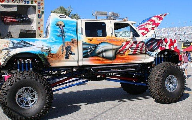 Veterans Ford Monster truck at the 2015 Daytona Turkey Run