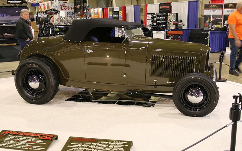 1932 Ford Highboy Roadster wins America's Most Beautiful Roadster trophy at the Grand National Roadster Show