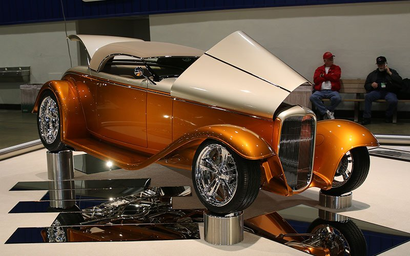 Chip Foose design displayed at the Grand National Roadster Show