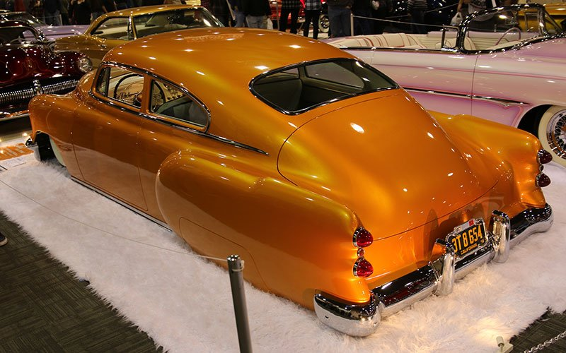 1951 Chevy Fleetline at the Grand National Roadster Show
