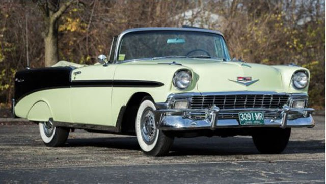 Ft Lauderdale Collector Car Auction features a 1956 Chevrolet Bel Air Convertible