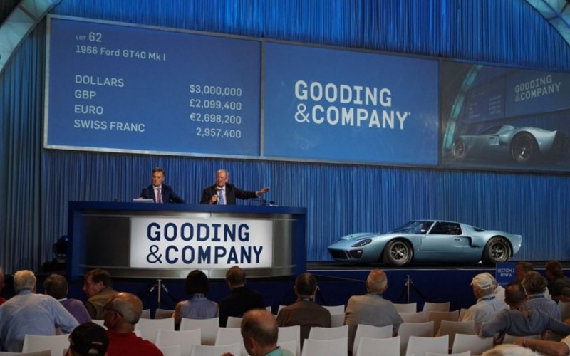 1966 Ford GT-40 Mk II sells at the Gooding Auction