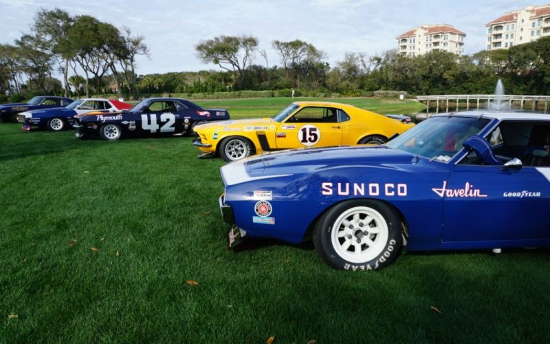historic race cars at 2016 Amelia Island Concours