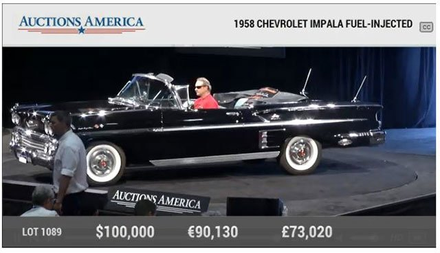 1958 Chevrolet Impala Fuelie Convertible at Santa Monica Auction