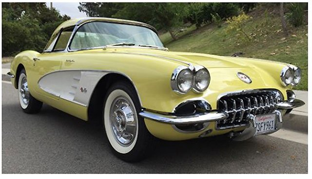 1958 Corvette Fuelie Convertible at the Santa Monica Auction
